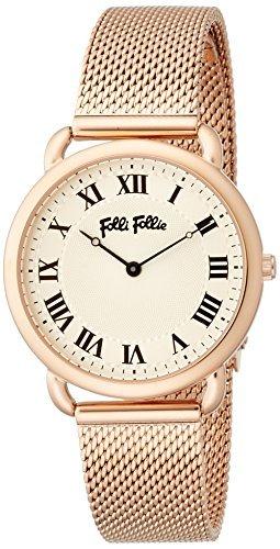 [Folli Follie] follifollie Perfect Match cinturón de malla reloj S (oro rosa) wf16r013bps-xx Ladies [Regular importados]: Amazon.es: Relojes