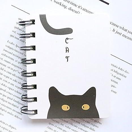Skyeye 1Pac Cuaderno, Portada Fresca y Simple, Gato Lindo, Cuaderno Fácil de Llevar, Diario del Estudiante: Amazon.es: Hogar