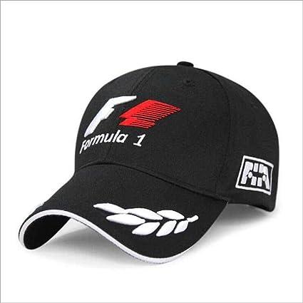 Baseball Caps Black F1 Men Formula 1 3D Embroidery Hats Motorcycle
