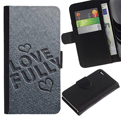 EuroCase - Apple Iphone 4 / 4S - LOVE FULLY - Cuir PU Coverture Shell Armure Coque Coq Cas Etui Housse Case Cover