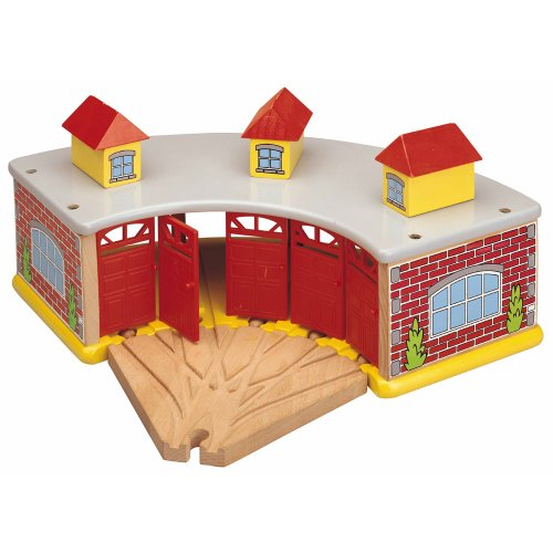 Thomas Friends Shed And - Maxim Big Train Roundhouse with 5-Way Track