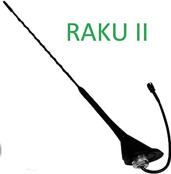 Soporte de techo universal - FM AM Radio Antena Antena de tejado para mástil de Antena para coche antena con antena base - juntas