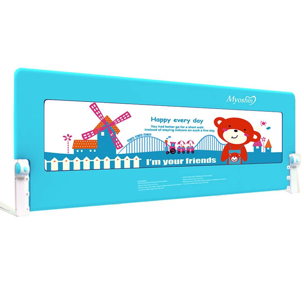 ダブルサイズのベッドのためのブルーベッドレールガールズボーイズ子供の安全ダブルベッドの70cmのベッドレール (サイズ さいず : 1.8m) 1.8m  B07JLWHR4V