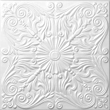 Amazon Com Foam Decorative Ceiling Tile Astana 50cm X 50cm 20 X20 Home Improvement
