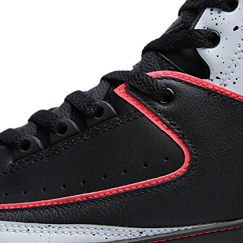 Nike Herren Air Jordan 2 Retro Hallo Top Basketball Synthetik / Stoff Sneakers Schwarz / Infrarot-rein Platinweiß