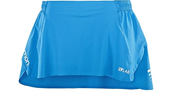 SALOMON S/Lab Skirt W - Falda, Mujer, Azul(Transcend Blue): Amazon ...