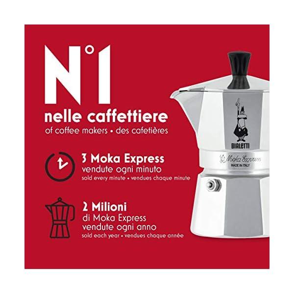 Bialetti Moka Express Caffettiera in Alluminio, Argento, 2 Tazze 3 spesavip