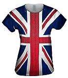 Yizzam- Union Jack -Tshirt- Womens Shirt-Small