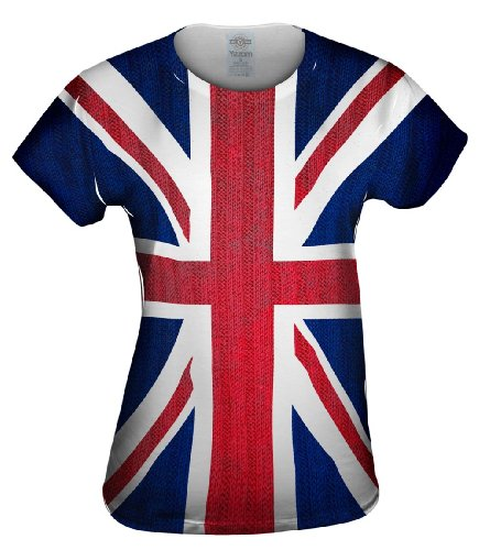 Yizzam- Union Jack -Tagless- Womens Shirt-Medium - Rose Tyler Costume
