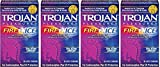Trojan Condom  Pleasures Fire and Ice Dual Action Lubricant, 10 Count (4 Pack)