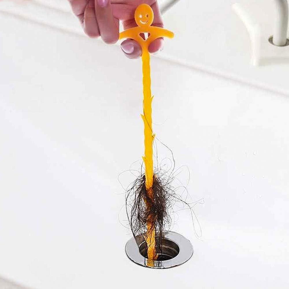 6 pack Drain Cheveux Receveur pour Evier de Cuisine Salle de Bain Baignoire Bouch/és Drains Bouches de Dragage Egouts Nettoyant de Canalisation Outil d/élimination des Bouchons de Vidange