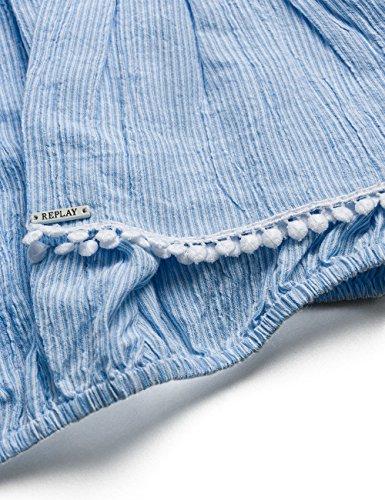 Blusa azure white Para Replay Mujer Azul 10 p4qvU0w