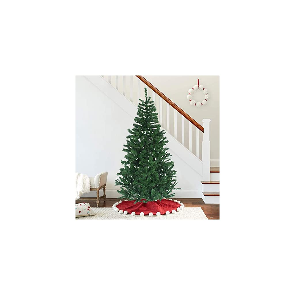 MAGGIFT-Hinged-Artificial-Christmas-Tree-Fir-with-Solid-Metal-Legs-Xmas-Tree-for-Home-Christmas-Decoration