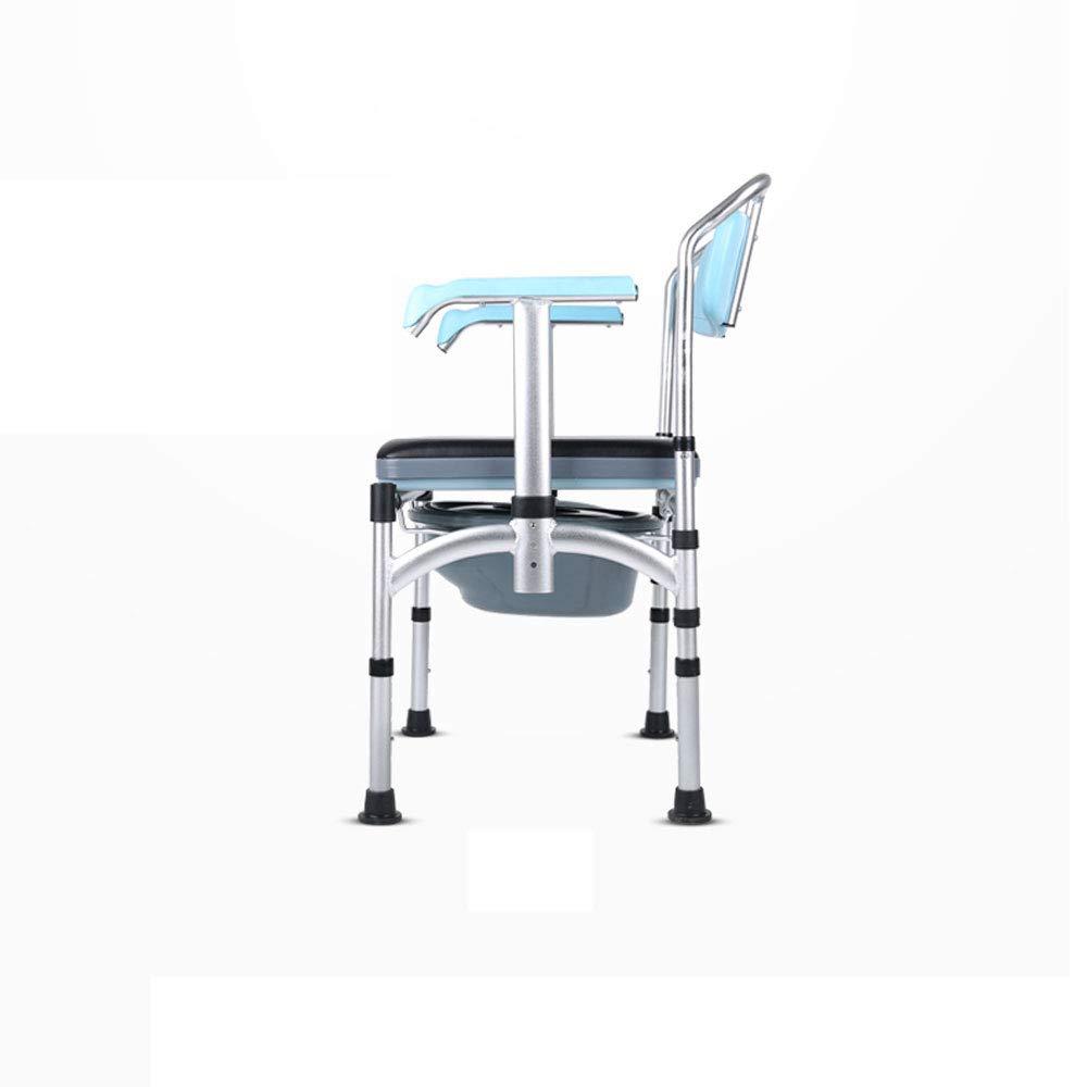 Mrtie Verstärkter Kommodenstuhl, Schwangere Frau, Alter Mann, Bewegliche Toilette des Patienten, Behinderter Gedrungener Schemelstuhl, Tragbarer Rutschfester Duschstuhl