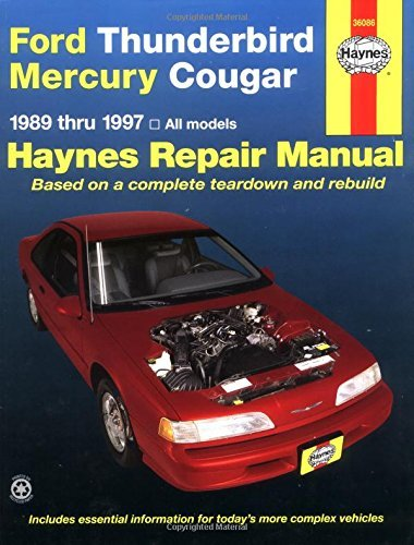 By John Haynes Ford Thunderbird and Mercury Cougar, 1989-1997 (Haynes Repair Manuals) (1st First Edition) [Paperback]