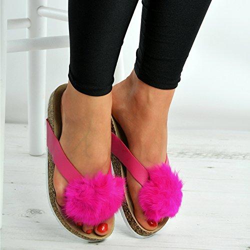 Cucu Fashion - Zapatos con tacón mujer fucsia