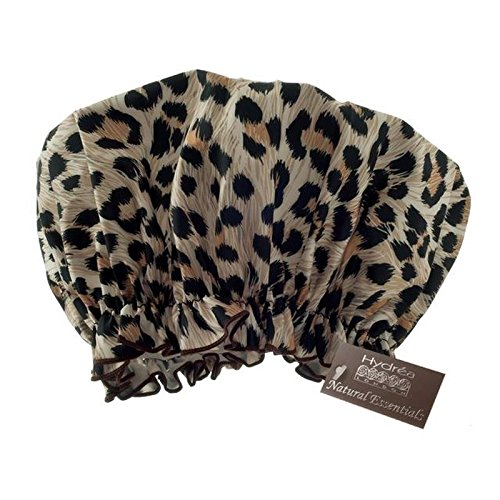 Hydrea London Eco Friendly PEVA Shower Cap, Leopard Print (PACK OF 6) by Hydrea London (Image #1)