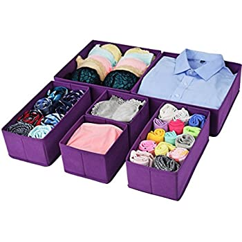 Foldable Cloth Storage Bins Closet Dresser Drawer Organizer Cube Basket Boxes  Containers Divider With Drawers For