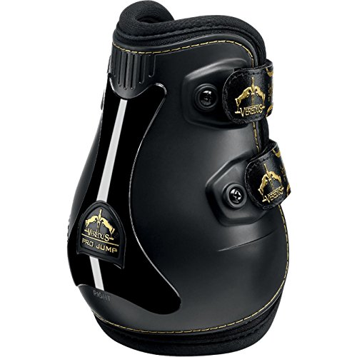 Neoprene Lined Fetlock Boots - Veredus Grand Slam Pro Jump Fetlock Boots Medium black