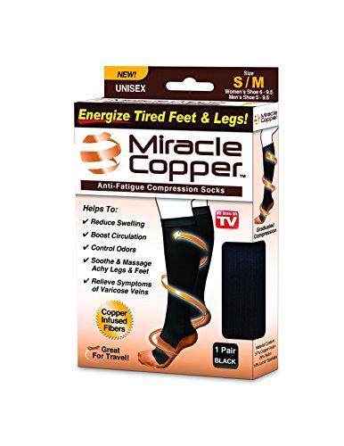 Miracle Copper Anti-Fatigue Compression Socks (Small/Medium)