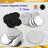 Asc365 3'' 75mm Rubber Magnetic Badge Button Parts for Maker Machine DIY