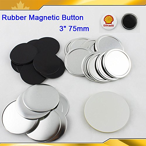 "Asc365 3"" 75mm Rubber Magnetic Badge Button Parts for Maker Machine DIY"