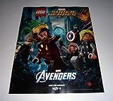 LEGO Marvel THE AVENGERS Promo Poster Thor Iron Man Hulk Captain America Black Widow Hawkeye