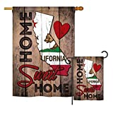 Ornament Collection S191111-BO State California Home Sweet Home Americana States Impressions Decorative Vertical House 28