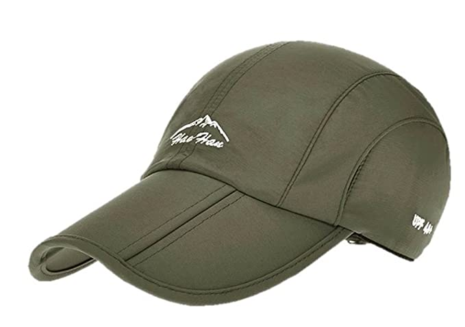 a154dc7b257 Cedon Folding Cap Snapback Brim Breathable Water Resistant Camping Outdoor  Climbing Fishing Green