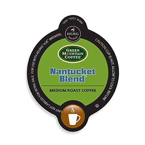 Green Mountain Coffee Nantucket Blend, Vue Cups for Keurig Vue Brewers (96 Count) - Nantucket Green