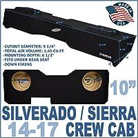 14-17 Chevy Silverado GMC Sierra Crew Cab Truck Sub Box Subwoofer Enclosure