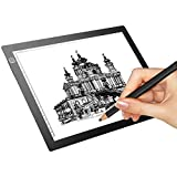 M.Way A4 LED Tracing Light Box USB Power Super Thin Light Pad Artist Stencil Table Copy Board with Brightness Illumination Adjustable Tattoo Sketch Architecture Calligraphy Crafts For Artists Drawing