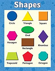 Teacher Created Resources Shapes Chart, Multi Color (7607)