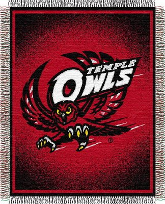 Northwest Temple Owls NCAA Triple Woven Jacquard Throw (019 Focus) (48x60