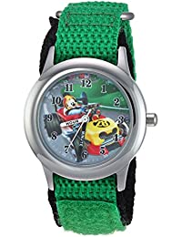 Boy's 'Mickey Mouse' Quartz Stainless Steel and Nylon Casual Watch, Color:Green (Model: WDS000180)