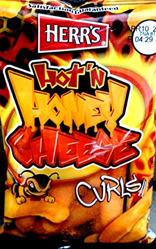 Herr's - HOT & HONEY CHEESE CURLS, Pack of 42 bags
