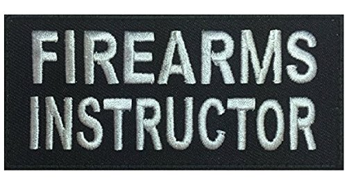 Firearms Instructor 4 inch Tactical Morale Hook Patch Miltacusa (FR3)