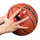 Kuangmi Finger Sleeve Support Protector Finger Splint Brace Pain Relief for Basketball Volleyball Baseball (L/XL(Pack of 2), Red)