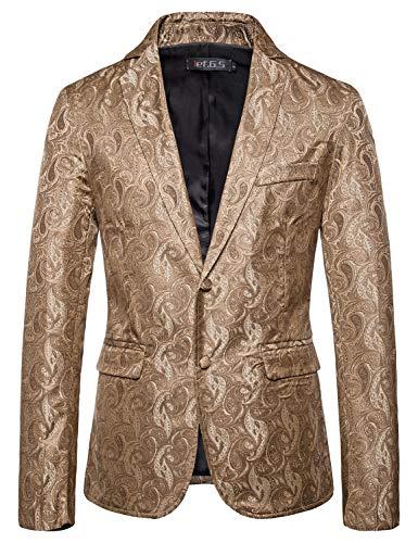 [해외]ief.G.S 남성용 플로럴 파티 드레스 슈트 스타일리시 디너 재킷 웨딩 블레이저 프롬 턱시도 정장 코트 / ief.G.S Mens Floral Party Dress Suit Stylish Dinner Jacket Wedding Blazer Prom Tuxedo Suit Coat