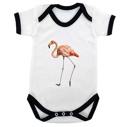 Body para bebé con imagen de flamenco y estampado en negro ...