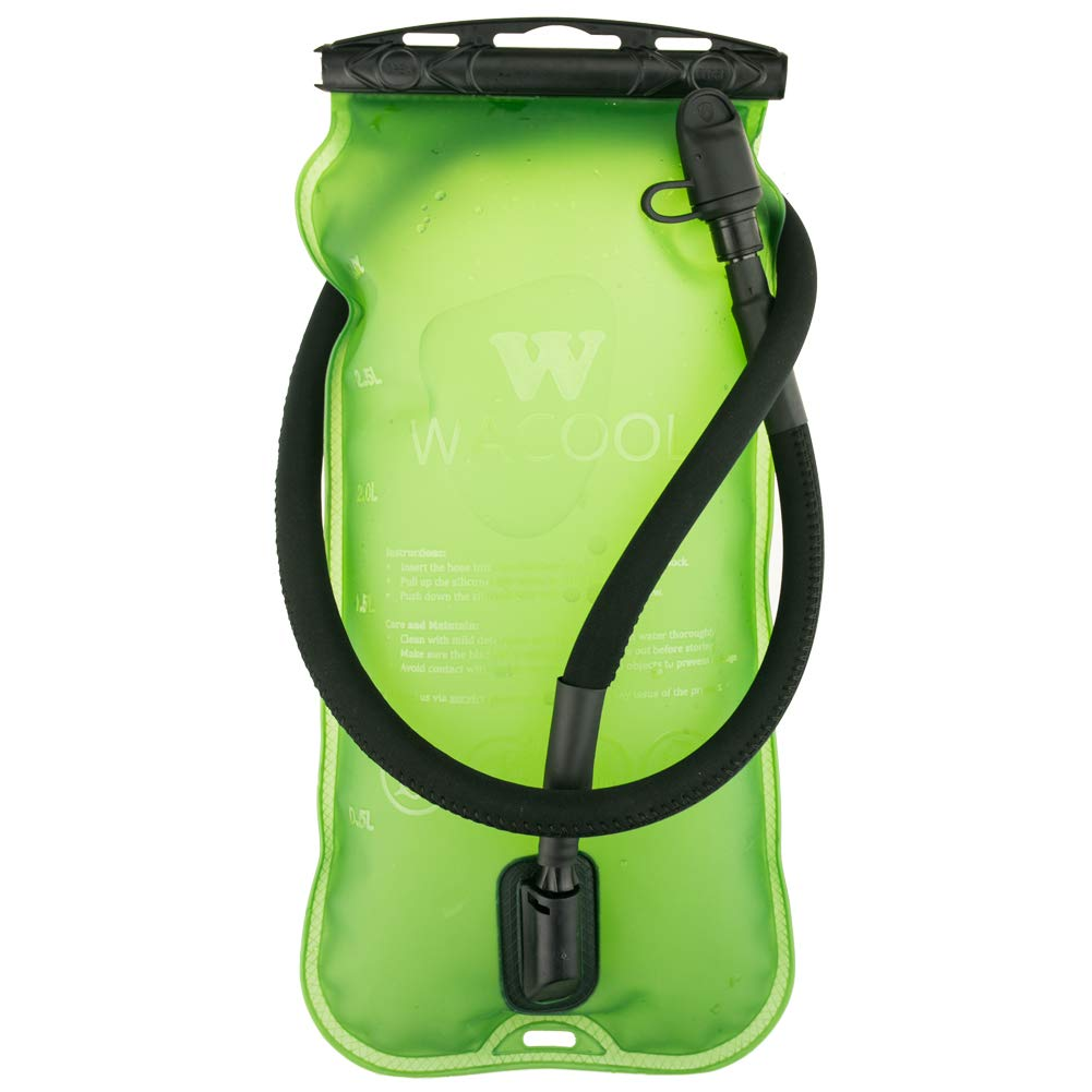 WACOOL 3L 3Liter 100oz BPA Free EVA Hydration Pack Bladder, Leak-Proof Water Reservoir (Green(Top Opening)) by WACOOL