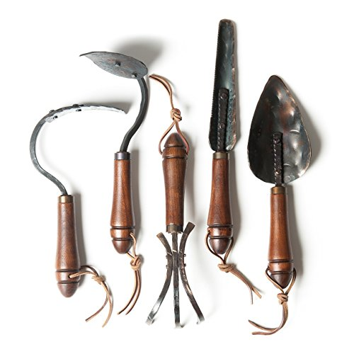 Holiday Gardening Tool Gift Set - (Set of Five) - Hand Forged in Bozeman, Montana by Fisher Blacksmithing by Garden Tools by Fisher Blacksmithing