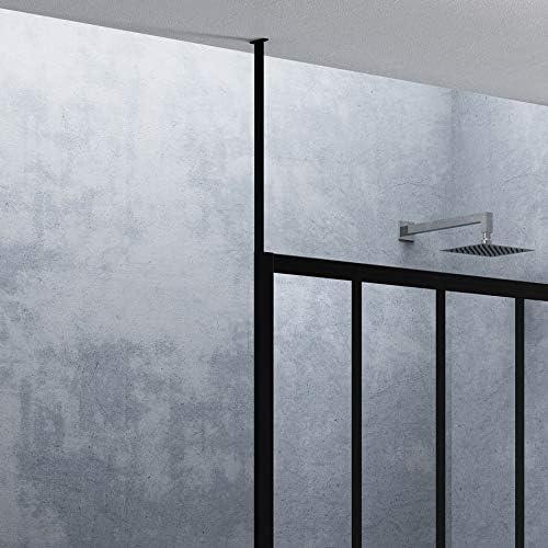 Mampara de ducha y bañera – Fijación Techo – H 250 cm – blanco ...