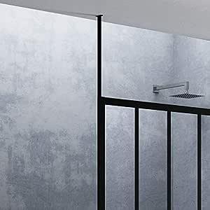 Mampara de ducha y bañera – Fijación Techo – H 250 cm – blanco lacado – Jacuzzi kloftfixplafl: Amazon.es: Bricolaje y herramientas