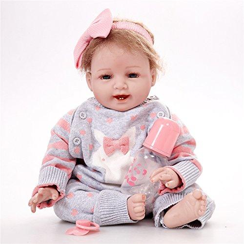 12817fb3dd Reborn Baby Dolls Lifelike Newborn - Soft Silicone Vinyl Dolls Weighted  Body Partner Toy Cute Girl