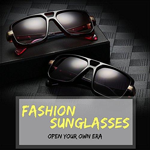 de Aviador marco sol de metal la Gafas de lente Progresiva negro Grande oro Retro Multicolor Plaza UV400 xHpRq5xwX