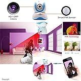 EYEKOP Baby Monitor, Wireless WiFi Security IP Camera, Super High Definition 720P C5 (Blue)