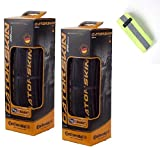 Bike A Mile Continental GatorSkin Bike Tires Folding tire - with Reflective Armband (Set of 2 Tires + Reflector, 700 x 23mm)