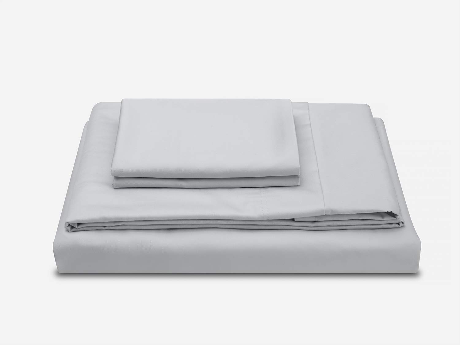 Cloudgrey Full Molecule Bed Sheets with Cooling Cotton & Tencel Lyocell fibers Construction, Super Durable and Ultra Lustrous Silk Satin Feel, Deep Pocket Sheet Set (CloudGrey, Twin XL)