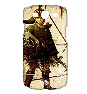 Cartoon The Legend of Zelda The Adventure of Link Printed for SamSung Galaxy S3 i9300 Case Cover 04